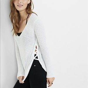 NWT Express Lace Up Side V-Neck Sweater